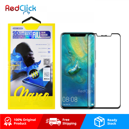 Atouchbo Huawei Mate 20 Pro 9D Full Glue Full Coverage Curved Screen Protector Nano Flexible Glass Film - Shock Proof