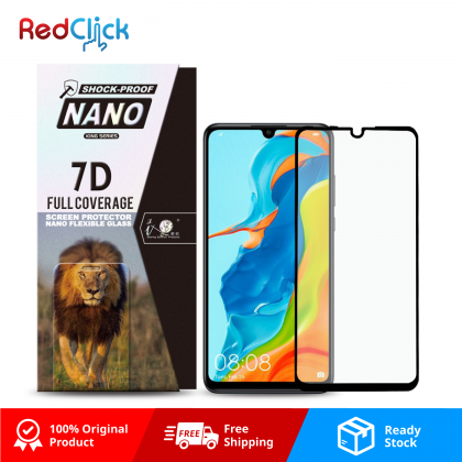 iTOP Huawei Nova 4e 7D Full Coverage Screen Protector Nano Flexible Glass Film - Shock Proof