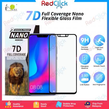 iTOP Huawei Nova 3i 7D Full Coverage Screen Protector Nano Flexible Glass Film - Shock Proof