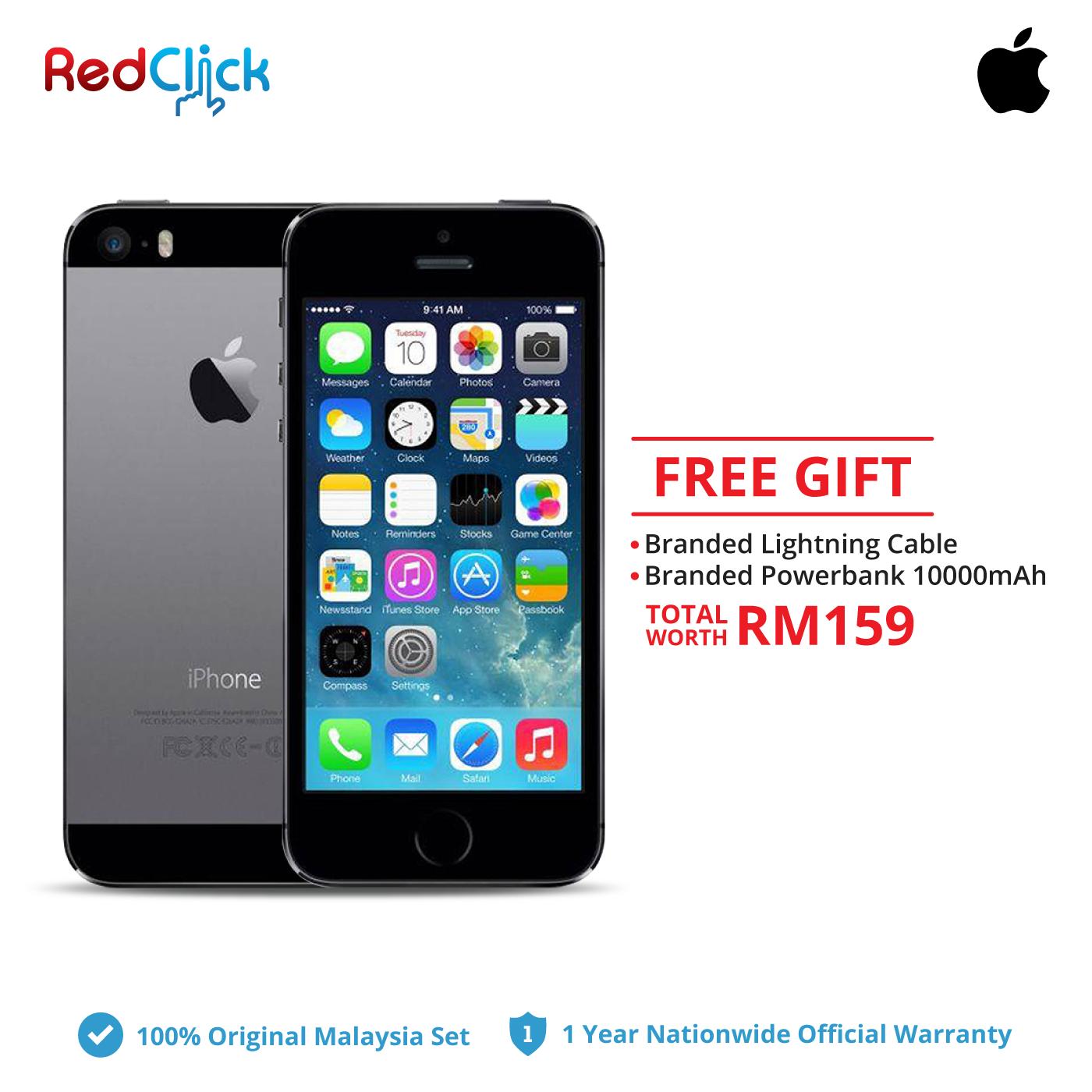 Iphone 5s Lightning Cable Original: Apple iPhone 5s (16GB ) Original Apple Malaysia Set + 2 Free Gift rh:redclick.com.my,Design